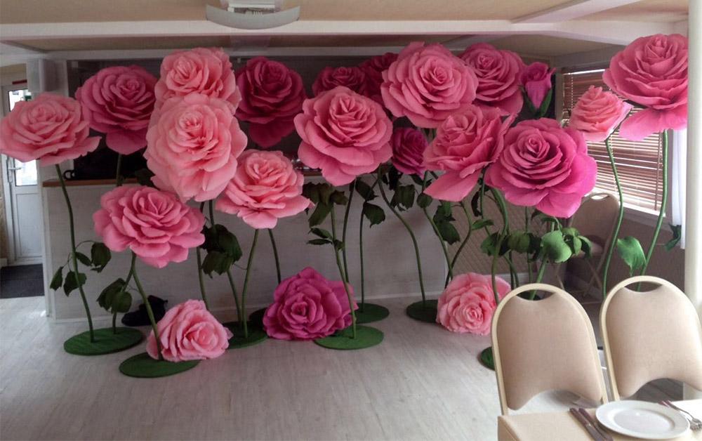 праздничное оформление свадьбы цветами